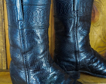 Stovepipe Boots Etsy