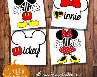 DISNEY Monogram decal/Monogram sticker/Disney car decal/His and Hers Disney Decals/Disney Yeti decal/Laptop decal/Yeti cup decal