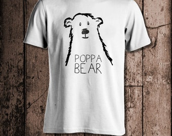 Poppa Bear | Men's tee | Perfect for Birthday's, Fathers' Day or Christmas