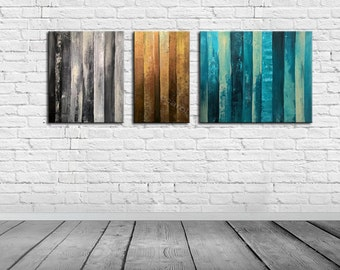 ABSTRACT PAINTING -  Modern Home Wall Decor Painting Canvas Art (together 130x50 cm )(52x20inch)