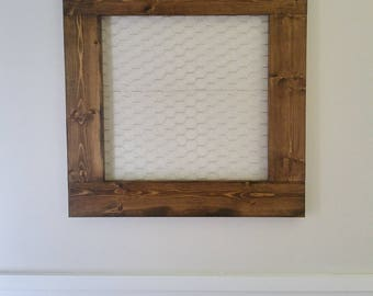 Wood and Chicken Wire Display Frame