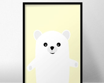 Cute Nursery Bear print / multicolor