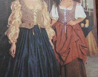 Simplicity 8715 Women's Renaissance Costumes Sewing Pattern