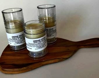 Smudge Sticks (Lotion Sticks) Variety of Scents - Lavender / Bergamot / Sandalwood / Vanilla / organic lotion bar / solid perfume / dry skin