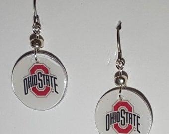 Ohio State Buckeyes earrings, Ohio State Buckeyes jewelry, The Ohio State, school spirit jewelry