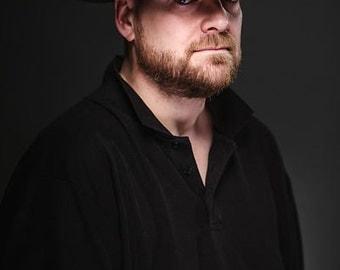 Man's Hat, Man's Trilby, Man's Fedora, Brown Fedora with Suede Trim - Harrison