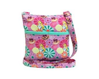 Alice In Wonderland Crossbody Bag // Cheshire Cat Sling Bag // Crossbody Purse // Shoulder Bag // Hipster