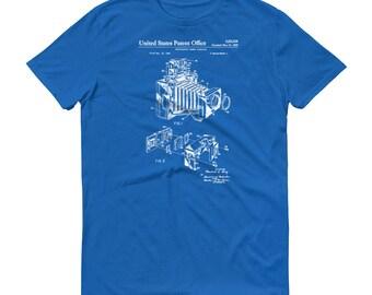 Photographic Camera Patent T Shirt - Photographer Shirt, Photographer Gift, Patent Shirt, Camera Patent, Camera T Shirt, Photography T-Shirt