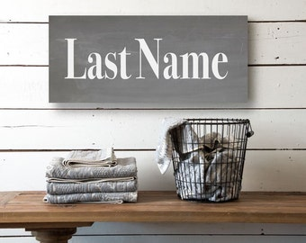 Last name canvas etsy for Last name pictures architecture