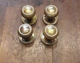 Vintage Brass Door Knobs