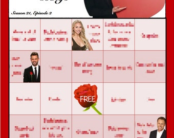 Bachelor Bingo Boards - Nick