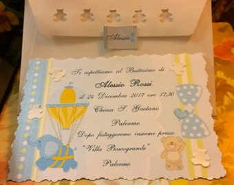 Baptism invitation Envelope