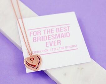 Bridesmaid card | Bridesmaid jewelry | Bridesmaids jewelry | Bridesmaid necklace | Bridesmaids necklace | Personalised jewelry | Jewelry