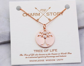 tree-of-life meaning | tree-of-life pendant | family tree necklace | tree-of-life jewelry | rose gold necklace | personalised jewelry