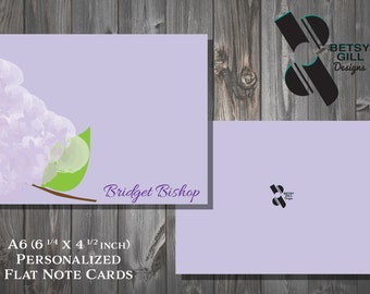 Personalized Lovely Lilac Themed Stationery Note Cards