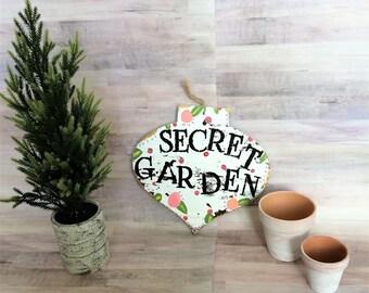 Secret Garden Sign // Garden Decor, Spring Decor