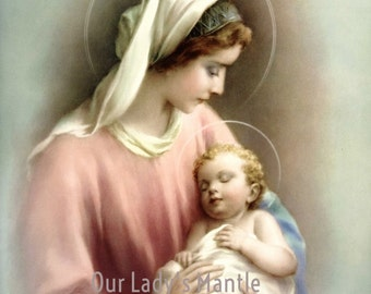 MADONNA & CHILD - Mary and Baby Jesus 8x10 Print Picture Art