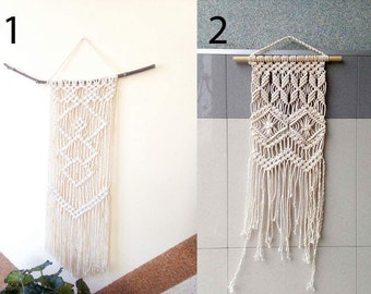Modern Macrame Wall Hanging/3 mm 100% cotton cord/Boho macrame wall hanging/Boho wall tapestry/Modern macrame/Wall art/ macrame decor