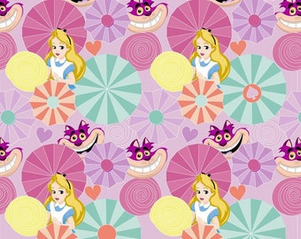Disney Alice And Wonderland Cotton Fabric