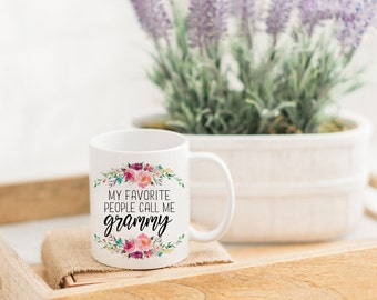 My Favorite People Call Me Grammy Funny Mug | Grandma Coffee Mug | Gift for Grandma | Pregnancy Reveal | Mom Gift | Custom Mug for Her