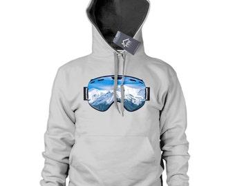 Ski Goggles Mountain View Hoodie Mens Womens Kid Skiing Hoody Snowboard Gift 488