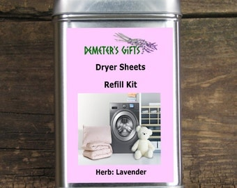 Lavender Dryer Sheet  - Set of 3 for Refill - Clean, fresh, and calming - Eco friendly Laundry