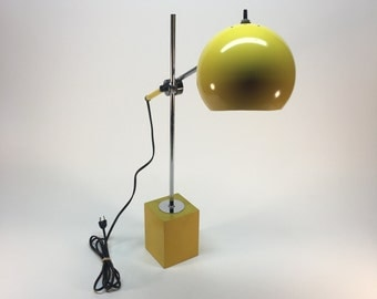SALE- Vintage Robert Sonneman adjustable eyeball desk lamp