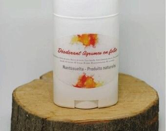 """Deodorant """"Citrus in madness"""", made in Québec"""