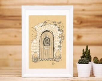 Garden Door Print