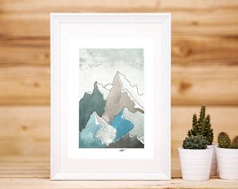 Mountain Scene Artwork