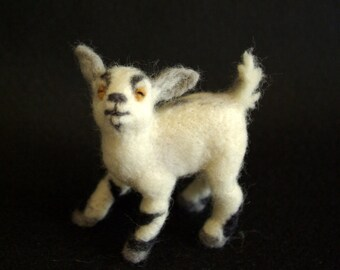 Playful Little Goat- needle felted goat soft sculpture (ready to ship)