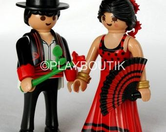 Playmobil Spanish, flamenco couple figurines