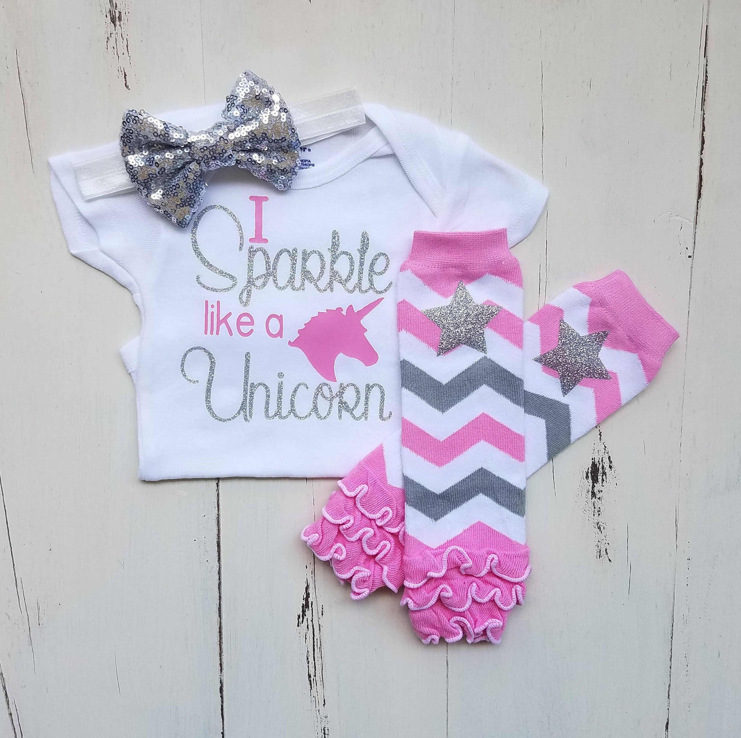Unicorn onesie Baby girl clothes esie Baby girl outfit