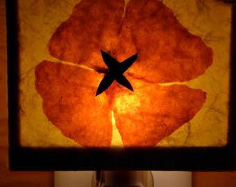 Night Light, Accent lamp, poppy, poppies, nursery light, mood lighting