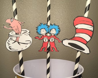 Dr.Seuss Straws Set of 12