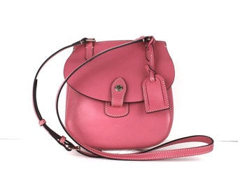 Vintage Dooney and Bourke Pink Genuine Leather Cross Body Small Bag Purse