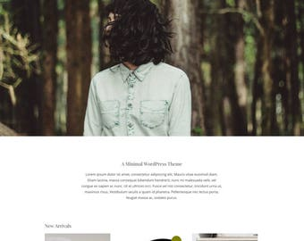 Oh Lily! | MINIMAL WORDPRESS THEME | white, green, woocommerce, blog, ecommerce, website, template