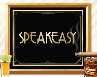 Speakeasy, Speakeasy sign, speakeasy wall art, speakeasy bar decoration, speakeasy bar decorations, bar deco, bar sign, speakeasy bar sign