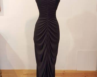Vintage Black Climax Karen Okeda for David Howard Designer Gown, Size 3/4