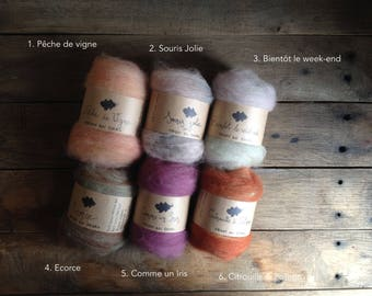 Strands of worsted - color choice
