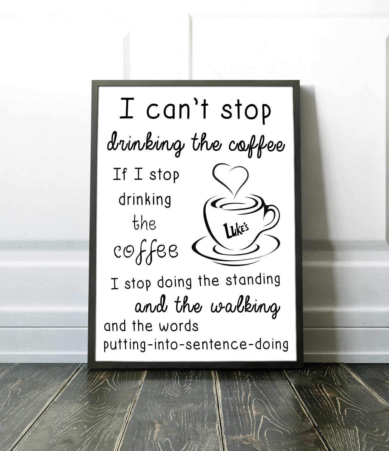Lorelai Gilmore Quotes: Gilmore Girls Coffee Quote Poster Print Coffee Lorelai Quote