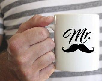 Mr. Coffee Mug, Coffee Mug, Wedding Gift, Mr and Mrs, Mr and Mrs Mugs, Engagement Gift