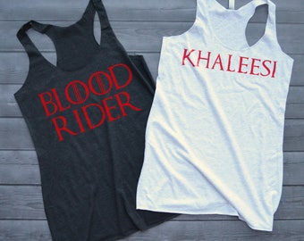 Khaleesi and Blood Riders Game of Thrones Bachelorette Tanks - Targaryen Bride and Tribe