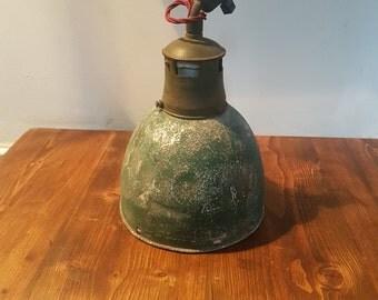 Original 1930s Holophane industrial pendant: rewired