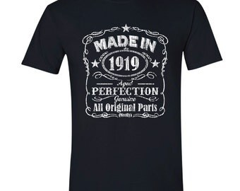 1919 birthday, 1919 shirt, 1919 T-Shirt, 1919, Any Year Available