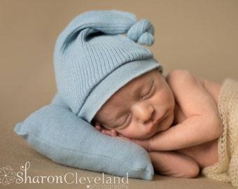 Pillow Set Photo Prop, Posing Pillow Set, Newborn Boy Pillow and Hat Set, Photography Prop Pillow Set, Blue Pillow & Hat Set, Ready to Ship