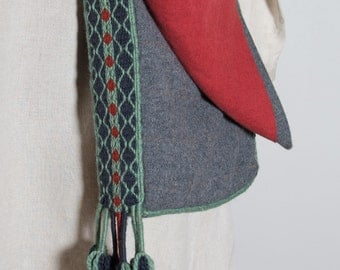 Handsewn Medieval Shoulder bag pilgrim Wool