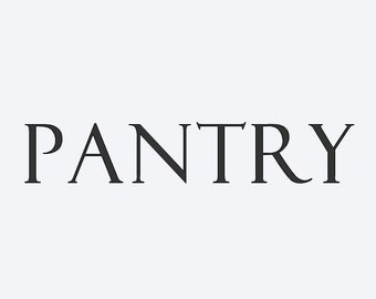 pantry vinyl decal for doors or glass