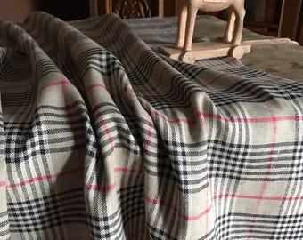 Checkered Tablecloth, Tartan Tablecloth, Natural Linen Table cloth, Brown table cloth, Classic, Plaid Tablecloth, Checkered tablecloth, dark