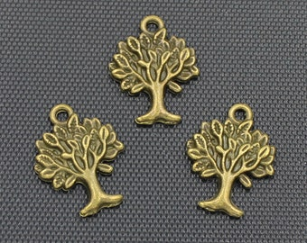 20pcs Tree of Life Charm Antique Bronze Tone 17x22mm - BH343